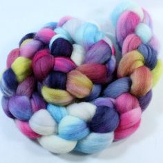 Falkland Wool Roving - Hand Painted - Hand Dyed for Spinning or Felting - 4oz - Olivia