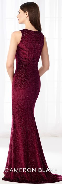 5478fb1dbc8 Cameron Blake 218604 - This rich and superb sleeveless stretch laser-cut  velvet fit and