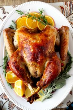 Incredibly moist, delicious, golden and perfectly roasted turkey. This Brined and Roasted Turkey comes out perfect every time. The secret is in the brine!!