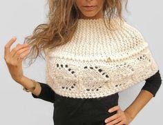 Boda nupcial mano cabo de lana blanca tejido Eco lana por KrissWool