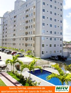 Paisagismo do Sunrise. Condomínio fechado de apartamentos localizado em Lauro de Freitas / BA.