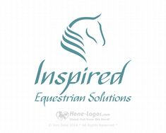 Horse logo design by Horse-Logos.com Created for Inspired Equestrian Solutions