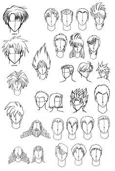 Cabello De Hombres Consejos De Dibujo Manga Hair Anime Hair Y