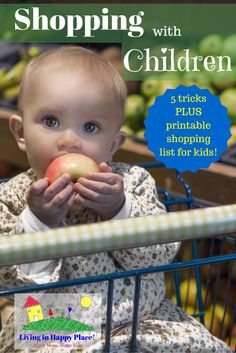 Shopping with children: tricks for tear-free shopping! Grocery shopping with kids is no fun! Sometimes you have to take kids to the store so try these tips to make shopping with kids easier