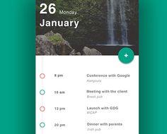 calendar app ui