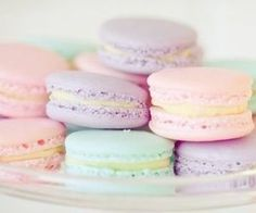 Macarons! I've actually never had one before but they look so yummy!