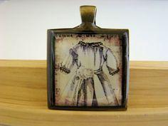 Resin Pendant Antique Dress Vintage Inspired by BytheGulfCreations, $12.00