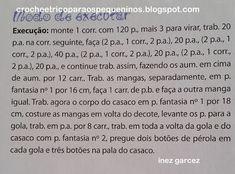 CROCHE E TRICO PARA OS PEQUENINOS: CASAQUINHO DE CROCHÊ PARA BEBE COM RECEITA