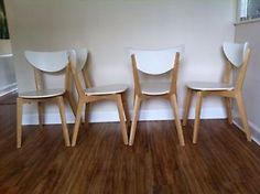 IKEA NORDMYRA Chair, white, birch for sale on Trade Me, New Zealand's auction and classifieds website Dining Chairs, Dining Room, Ikea Furniture, Birch, Bar Stools, Stuff To Buy, Home Decor, Art, Bar Stool Sports