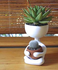 A cactus is a superb means to bring in a all-natural element to your house and workplace. The flowers of several succulents and cactus are clearly, their crowning glory. Cactus can be cute decor ideas for your room. Decoration Cactus, Decoration Plante, Succulent Pots, Cacti And Succulents, Cactus Flower, Flower Pots, Flower Bookey, Flower Film, Flower Band