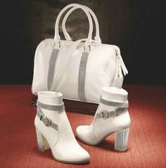 Bootie Ankle booties with rhinestone accents and side zipper. 5026079860