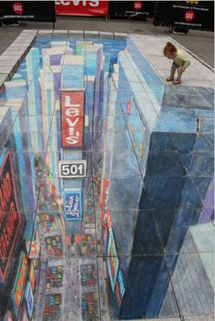 Julian Beever's Times Square in Times Square
