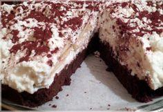 Túrótorta fahéjas almával és brownie alappal | NOSALTY Tiramisu, Brownies, Ale, Ethnic Recipes, Sweet Stuff, Food, Cake Brownies, Eten, Ales