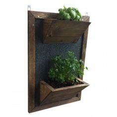 Kit vasi in legno per orto verticale a parete MISTRO