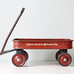 little red wagon...hands up, who did NOT have one of these? :)