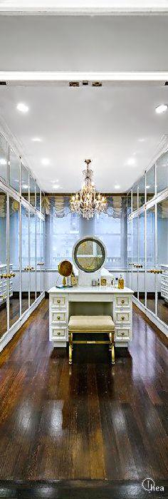 New dress room closet vanity area 34 ideas Dressing Room Closet, Dressing Rooms, Dressing Area, Dressing Tables, Closet Vanity, Closet Mirror, Dream Closets, Closet Designs, Home Interior
