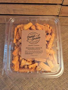 Kim's Cheese Straws by the Pound– $20.00 per lb. Great for weddings, showers, and parties or just to snack on at home, the beach, lake, or coast.There are approximately 8 straws per oz so 128 straws per lb (16 ozs). Each lb serves 16 (8 straws per person) to 32 (4 straws per person) people. Cooked fresh daily. Ships in 2-3 days.