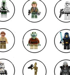 High Quality Free Starwars Lego Birthday Party Cupcake Toppers File