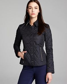 Black Burberry Quilted Jacket