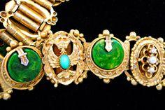Victorian Revival Bakelite Bracelet Faux Green by RenaissanceFair, $74.00