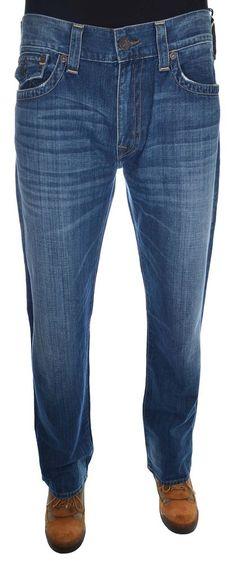 True Religion Men's Ricky Straight Flap Pocket Jean Size 36 in City Lights NWT #TrueReligion #ClassicStraightLeg