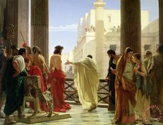 """Then Jesus came out, wearing the crown of thorns and the purple robe. And Pilate said to them, """"Behold the Man!"""" - John 19:5"""