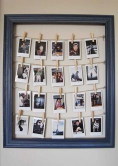Cute DIY Room Decor Ideas for Teens - DIY Bedroom Projects for Teenagers - DIY Photo Frame Tutorial #DIYHomeDecorQuotes