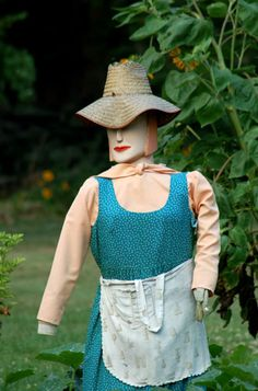Many people don't realize just how many choices they have when creating a scarecrow. There's no need to stick to the classic scarecrow design (exemplified in the Wizard of Oz) unless you want to. The scarecrow in this picture resembles what many of us look like when working in the garden, so it has a certain appeal. Click the link to see the pictures in my photo gallery for further ideas: http://landscaping.about.com/od/galleryoflandscapephotos/ig/Scarecrow-Ideas/