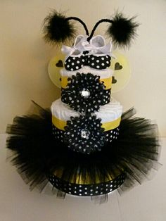 Another bee diaper cake for girl