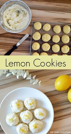 Lemon Cookies Recipe with Buttercream Topping - A taste of sunshine!