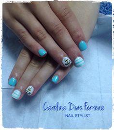 #nails #blue #carolinadiasferreira #nailstylist #marina