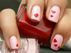Cute mani for Valentine's Day. http://www.ivillage.com/celebrating-valentines-day-kids/6-a-519945
