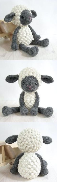 Crochet Bobble Sheep Best Collection Of Free Patterns | The WHOot(Diy Pillows Baby)
