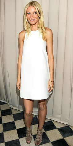 Gweneth Paltrow #allwhite #littlewhitedress