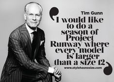 Tim Gunn wants size 12-plus models for 'Project Runway'
