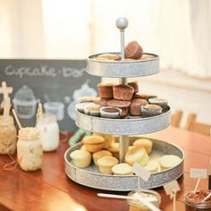 adorable little bakery display, for the specialties on the countertop