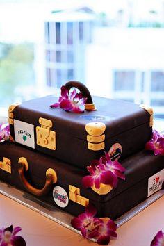 #briefcase wedding cake #briefcase birthday cake