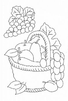 Coloring pages fruit and vegetables Picture drawing printable and coloring. Fruits And Vegetables Pictures, Vegetable Pictures, Fruit Coloring Pages, Halloween Coloring Pages, Christmas Fairy, Kids Christmas, Basket Drawing, Easy Canvas Painting, Embroidery Patterns Free