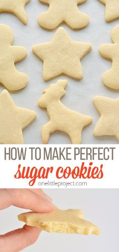 This is truly the only sugar cookie recipe you'll ever need! They keep their shape, they have perfect edges every time and they taste AMAZING! Best Sugar Cookie Recipe, Best Sugar Cookies, Cookie Recipes, Dessert Recipes, Desserts, Gingerbread Cookies, Icing, Remedies, Sweets