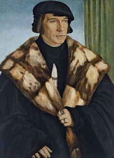 Barthel Beham  (1502-1540) — Portrait of Ruprecht Stüpf, 1528  : Museo Thyssen-Bornemisza, Madrid. Spain (900×1240)