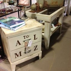 A-Z cute filing cabinet by Shirley & Joe - The Redneck Designers