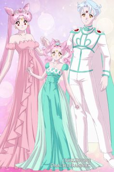 The Second Royal Family of Crystal Tokyo ~ by Minimoon46 ~ created using the Sailor Senshi doll maker   DollDivine.com