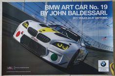$16.99 2017+BMW+M6+Art+Car+Poster+By+John+Baldessari+BMW+Racing+Rolex+24