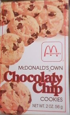 McDonalds Chocolaty Chip Cookies from the 80s - these were so good!