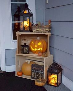 100 Cozy & Rustic Fall Front Porch decorating ideas to feel the yawning autumn midday wind .- 100 Cozy & Rustic Fall Front Porch decorating ideas to feel the yawning autumn midday wind and see the glowing red leaves slowly burning out Fall Home Decor, Autumn Home, Autumn Nature, Fal Decor, Fall Apartment Decor, Autumn Fall, The Fall, Country Fall Decor, Fall Entryway Decor