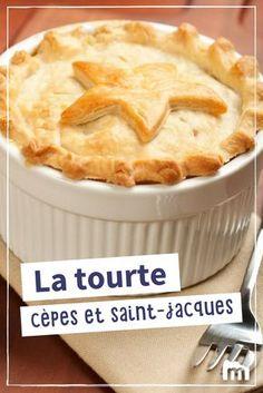 Tourte cèpes et saint-jacques #tourte #cèpes #champignons #saintjacques #Noël #fête #recette #Marmiton