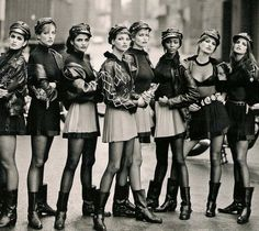 90's supermodels...Cindy Crawford, Helena Christensen, Linda Evanglista, Claudia Schiffer, Naomi Campbell, Stephanie Seymour