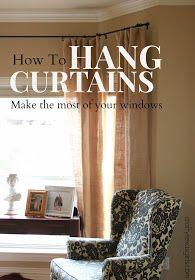 How to Hang Curtains- make your windows look larger #drapes