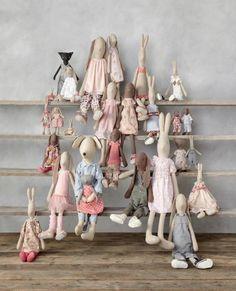 Handmade stuffed animal dolls   scandi chic