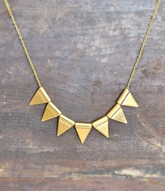 Pennant Banner Necklace  Metal Necklace  by stellacreations, $36.00